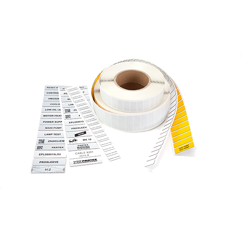 partex self adhesive labels